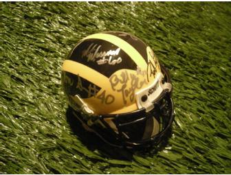 'Bo's Boys' mini-helmet signed by Rob Lytle, Mark Messner, Tripp Welborne and more.