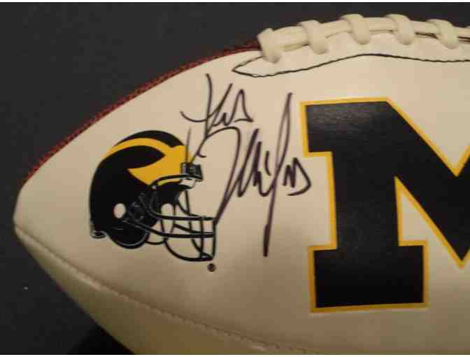 Les Miles autographed Michigan football