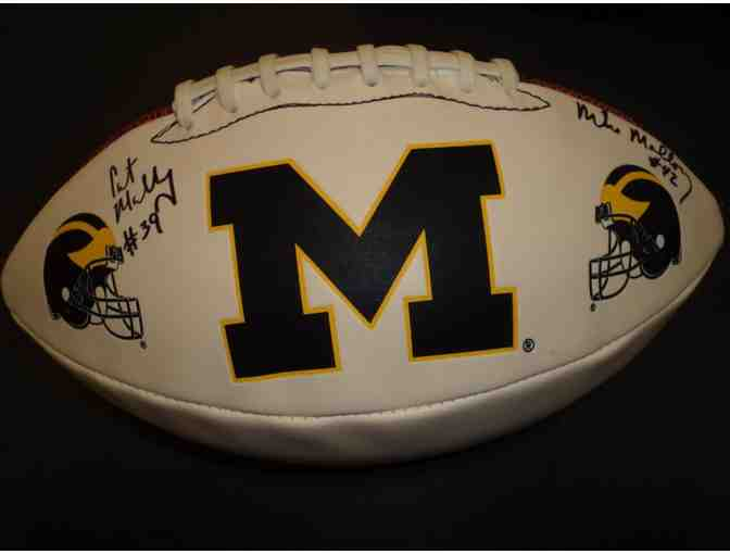 Curt Mallory and Mike Mallory autographed Michigan football