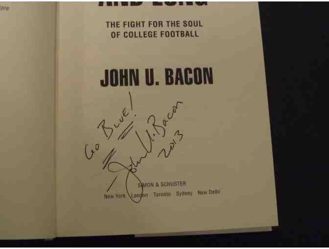 Autographed copy of John U. Bacon's 'Fourth & Long' book