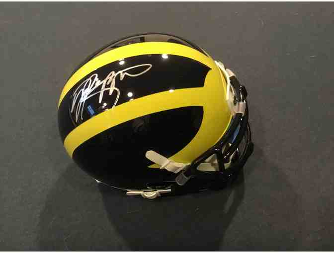 Jabrill Peppers autographed Michigan mini-helmet