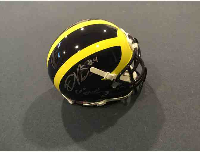 De'veon Smith autographed Michigan mini-helmet