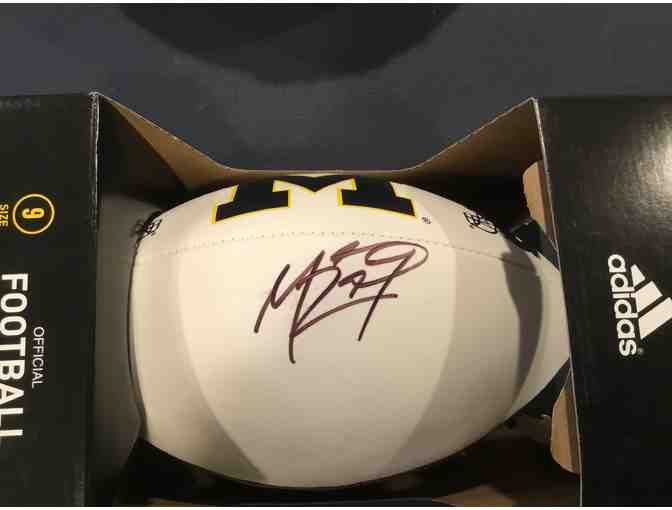 Marcus Ray autographed Michigan football