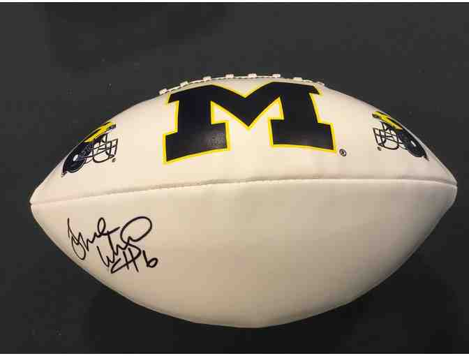 Tyrone Wheatley autographed Michigan football