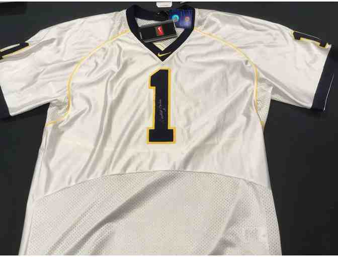 Anthony Carter autographed white Michigan #1 jersey