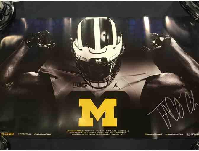 Taco Charlton autographed Michigan poster