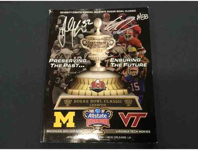 2012 Sugar Bowl game program autographed by Jordan Kovacs and Craig Roh