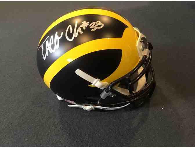 Taco Charlton autographed Michigan mini-helmet