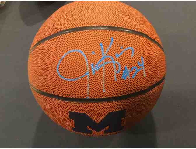 Jimmy King autographed Michigan basketball