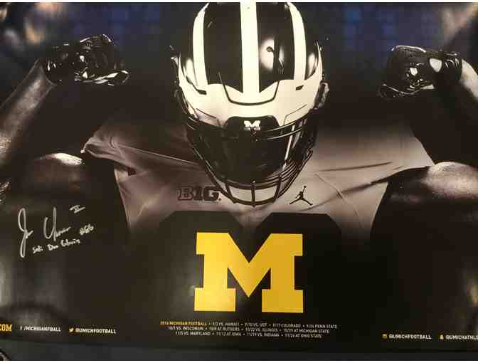 Jehu Chesson autographed Michigan poster