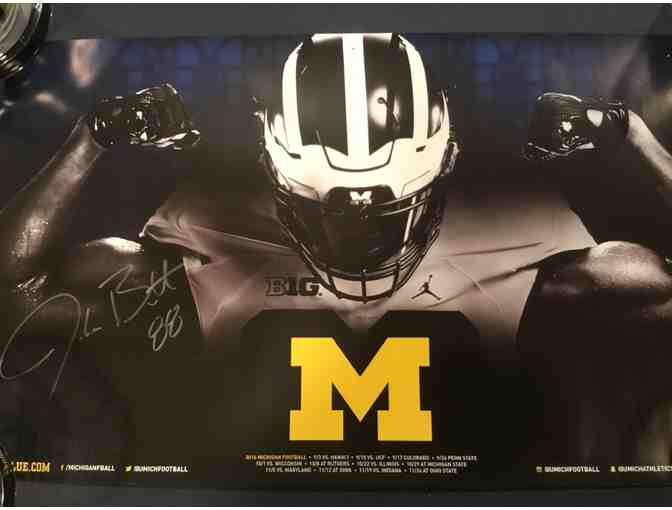 Jake Butt autographed Michigan poster
