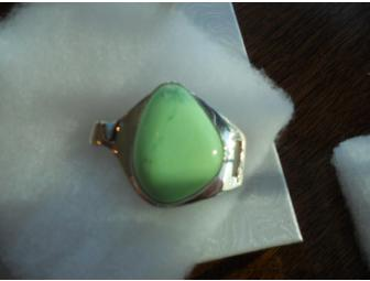 Hand Crafted, Sterling Silver Jadeite Bracelet - Photo 3