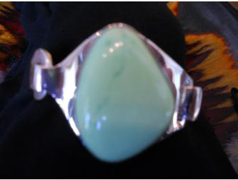 Hand Crafted, Sterling Silver Jadeite Bracelet - Photo 2