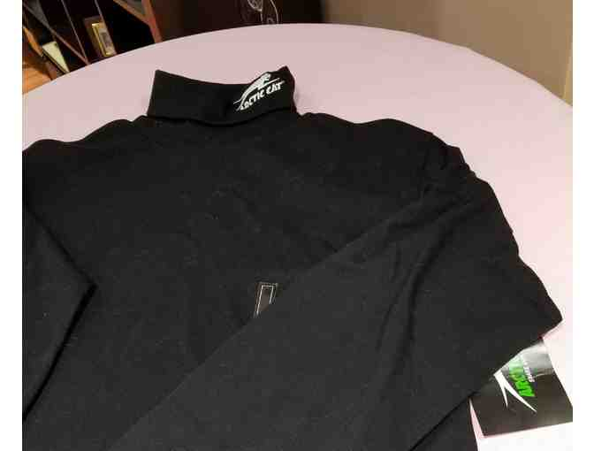 Arctic Cat Men's Black LS Turtle Neck - size Small - Photo 1