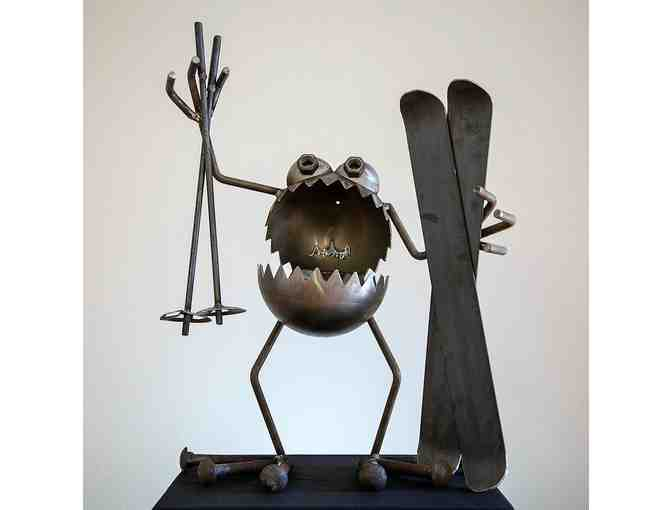 'Snow Bug' Welded Metal Sculpture by Sugar Post Metal Art