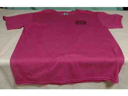 Adult Large Kitty Cottage Crew Neck T-Shirt in Hot Pink/Mauve