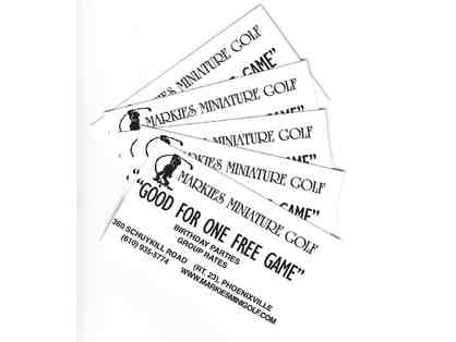 5 Tickets to Markie's Miniature Golf