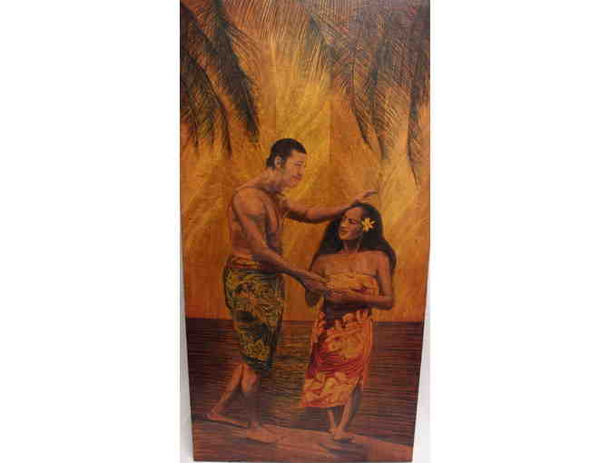 Original Wood Burned Oil Painting on Mango by Kawika Gallegos