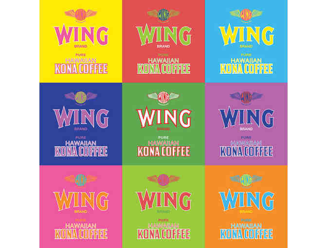 Wing Brand Coffee Label, Series of 9
