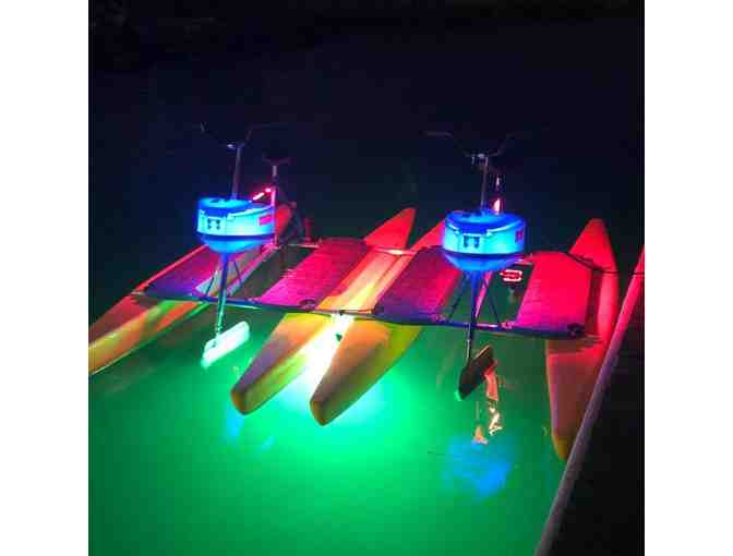 Long Beach Waterbikes: 2 Glow Ride Tickets (LED light night Hydrobike)