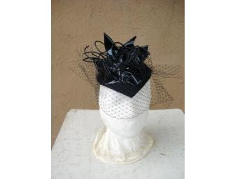 Veiled and Fierce Fascinator and lap dog collar by Taos artist, Katy George
