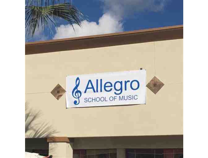 Allegro School of Music: Certificate for A Trial Lesson (#1)