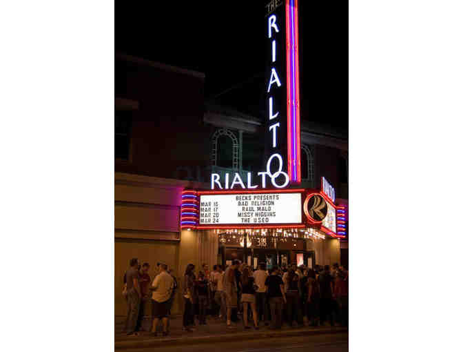 Rialto Theatre (2 @ $50)  and R Bar (1 @ $25) Gift Certificates, Plus Rialto T-Shirt