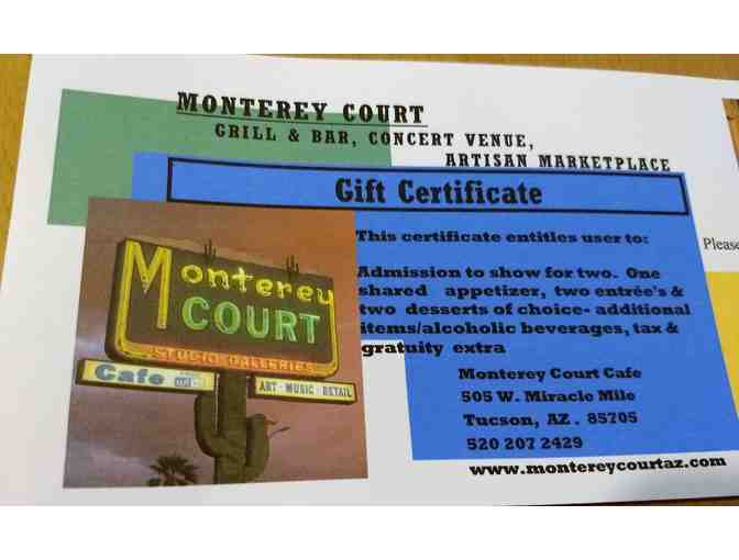 Baracutanga at Monterey Court:  (2) Ticket /Dinner Package (#2) - December 7, 2018