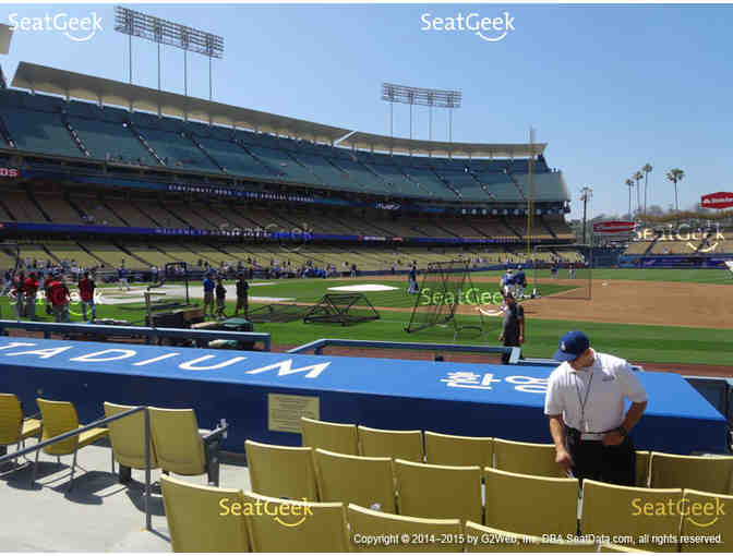 2 Lexus Dugout Club Tickets and 1 Parking Pass for Dodgers v. Padres 9/25 - Photo 2