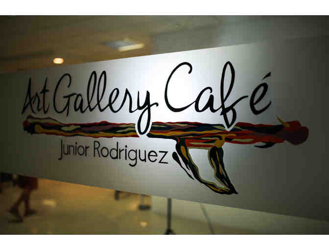 Custom Framed Original Painting by Junior Rodriguez; Art Gallery Cafe, Tamarindo - Photo 2