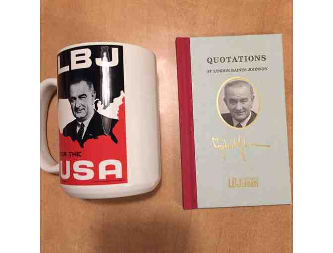4 Tickets to the LBJ Presidential Library , book : Quotations of LBJ, Mug and T-shirt - Photo 3