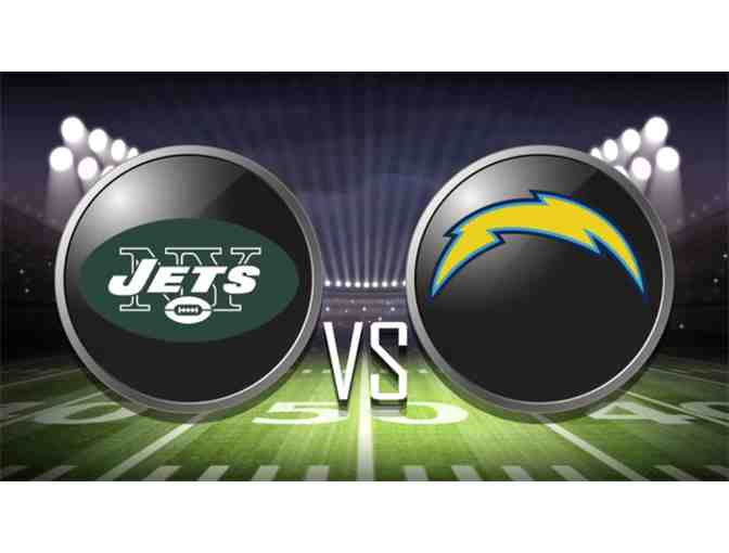 Four (4) tickets NY Jets vs. LA Chargers & a parking pass