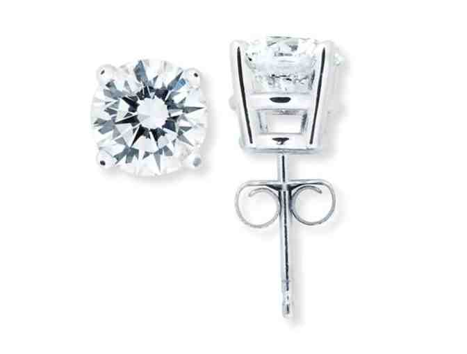 Classic Diamond Stud Earrings (1.0 Carat Total Weight)