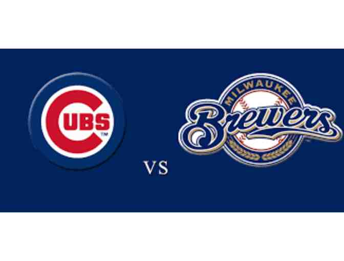 3 tickets to Cubs vs Brewers