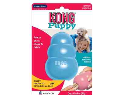 Baby Blue Puppy Kong Toy