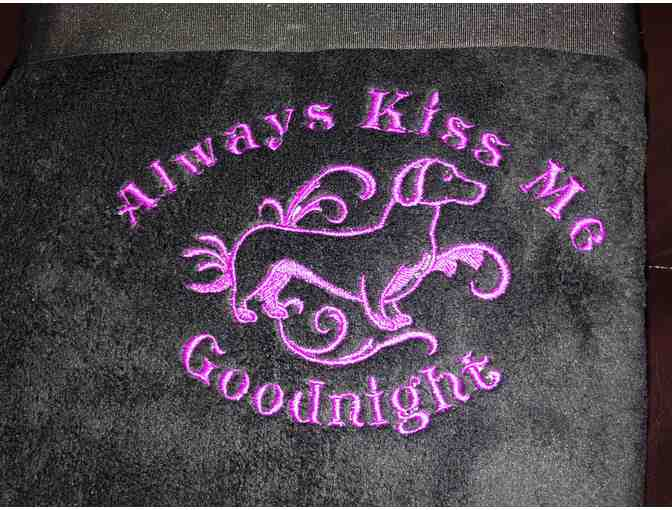 Always Kiss Me Goodnight Plush Throw
