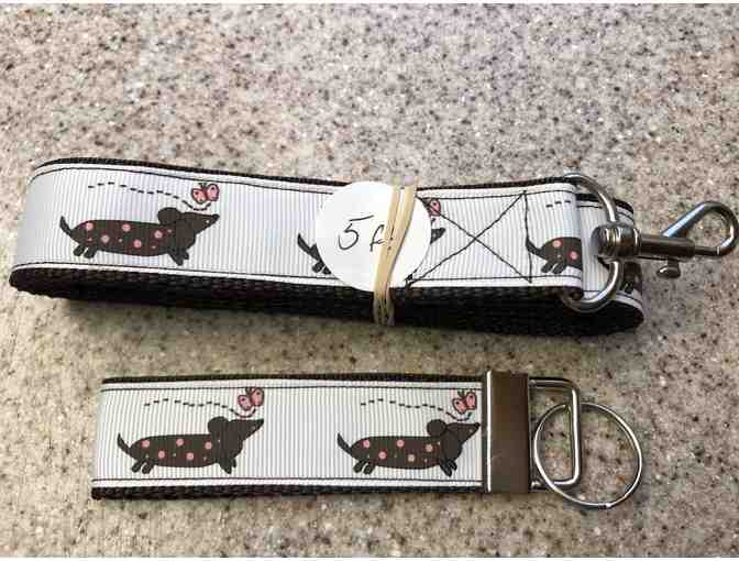 Dachshund Leash with matching Key Chain