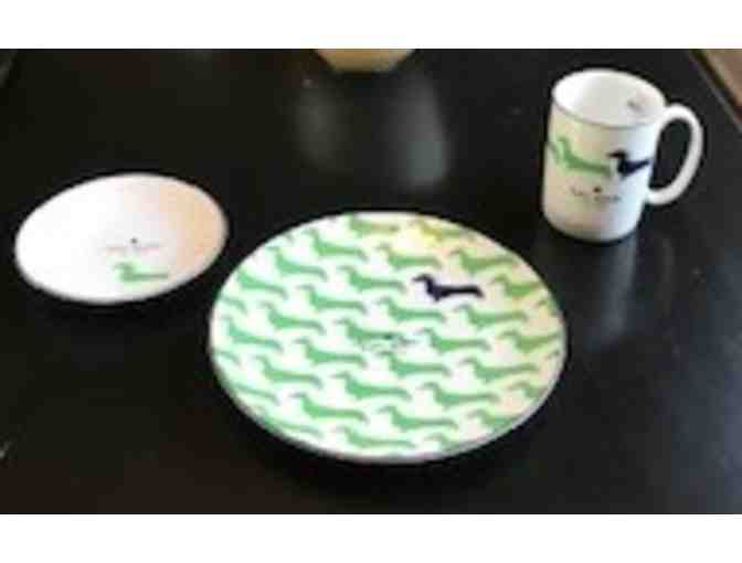 Kate Spade-Navy and Green Place Settings (2)