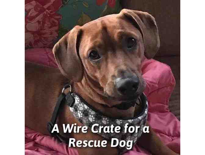 Wire Crate for a Rescue Dog