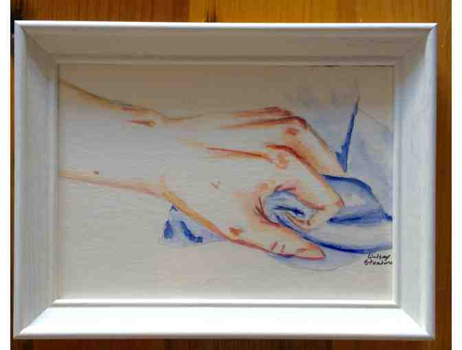 004. Art - a Tense Hand in watercolors - Photo 1