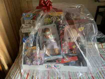 003. A Basket full of Toys for the Holidays - basket #1