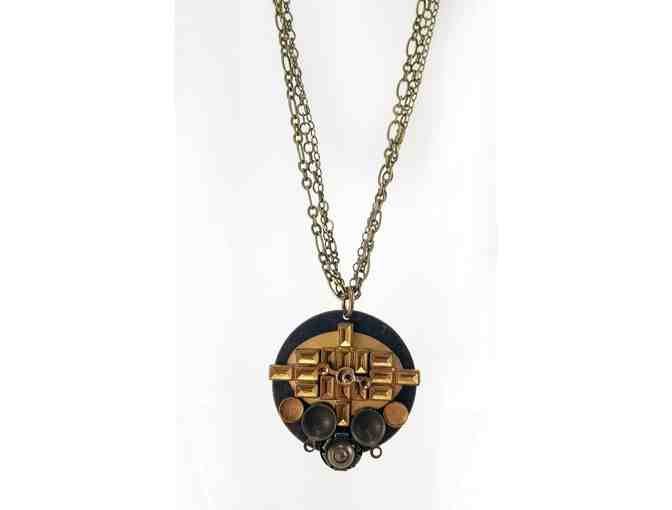 Abstract Brass Necklace