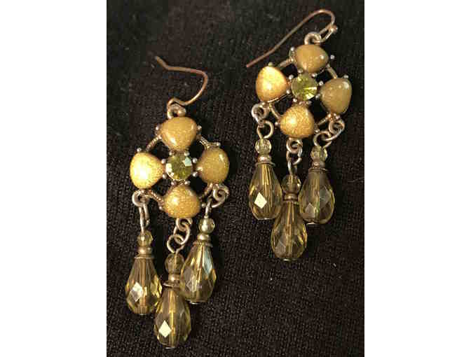 Green Tones Semi-Precious Earrings