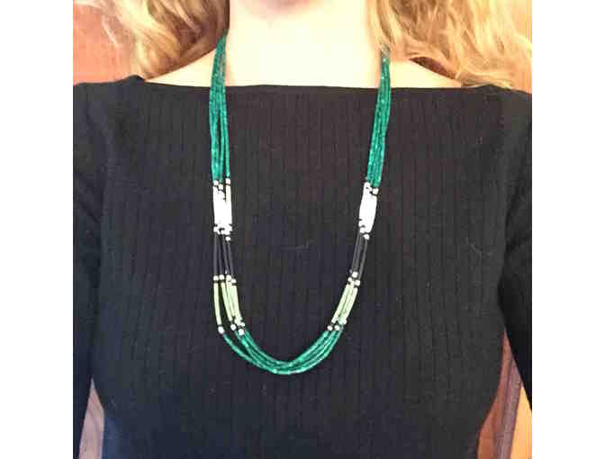 Native American Green Beaded Necklace