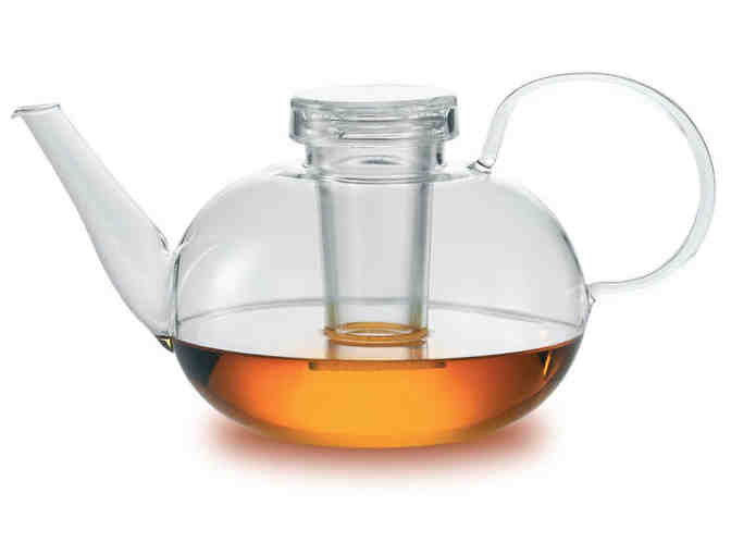 Jenaer Glas, Wagenfeld Collection, Glass Teapot with Lid and 2 Glass Filters