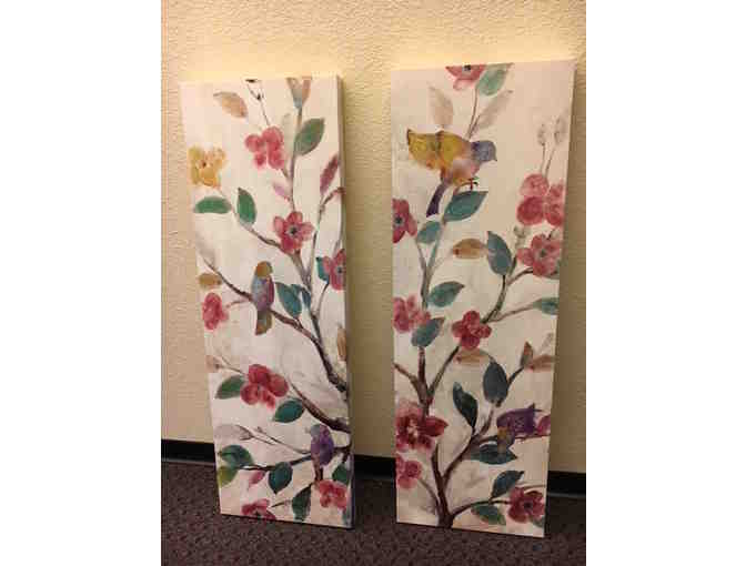 Birds and Flowers Wall Panel