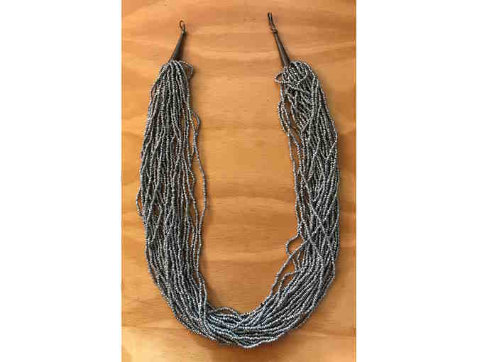 Cascade of Silver Beaded Necklace
