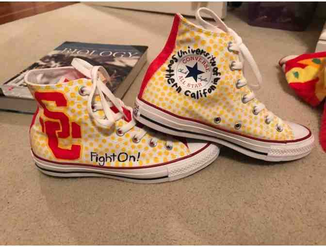 Hand Painted Converse Shoes by PVHS Student Artist - Lauren Shirley