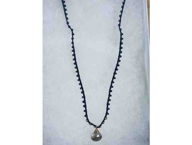 FACETED GEMSTONE NECKLACE, HAND BRADED