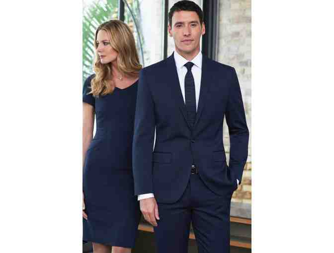 TWO BUTTON MENS SLIM FIT PRIVE' SUIT FROM MATTUCCI TAILORS